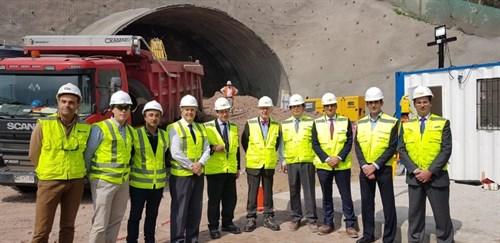 18.09.10 El Embajador De España En Chile Visita Las Obras De Construcción De La Autopista AVO