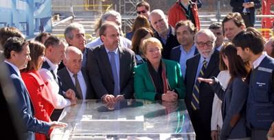 17.09.07 Presidenta De Chile En La Obras De Curico