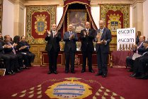 Entrega del premio a Juán-Miguel Villar Mir de la Asociación Iberoamericana de la Comunicación por su ejemplar trayectoria de vida y por su firme defensa de las relaciones empresariales entre Latinoamérica y España