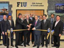 Imagen que muestra la inaguración de la Escuela de Construcción OHL, llevada acabo por el Grupo OHL y la Facultad de Ingeniería e Informática de la Universidad Internacional de FLorida