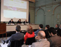 Imagen que muestra la presentación del libro Restauración Ecológica de áreas afectadas por infraestructuras de transporte