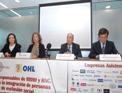 Imagen de la mesa presidencial de la reunión celebrada en Torre Espacio, sede de OHL