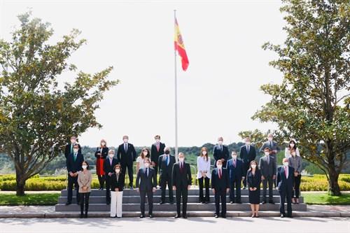 rey Felipe VI junto con los miembros del Consejo Empresarial Español para el Desarrollo Sostenible