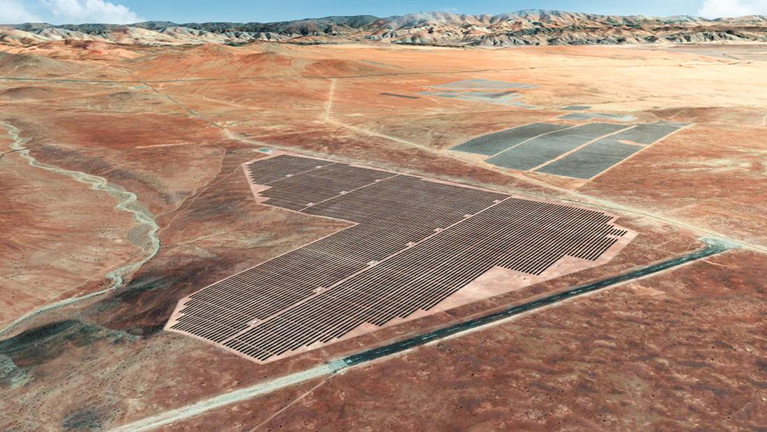 Planta fotovoltaica La Huella. Chile