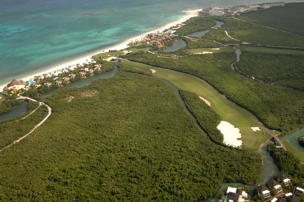 Reserva de manglar Desarrollo Mayakoba. Riviera Maya, México